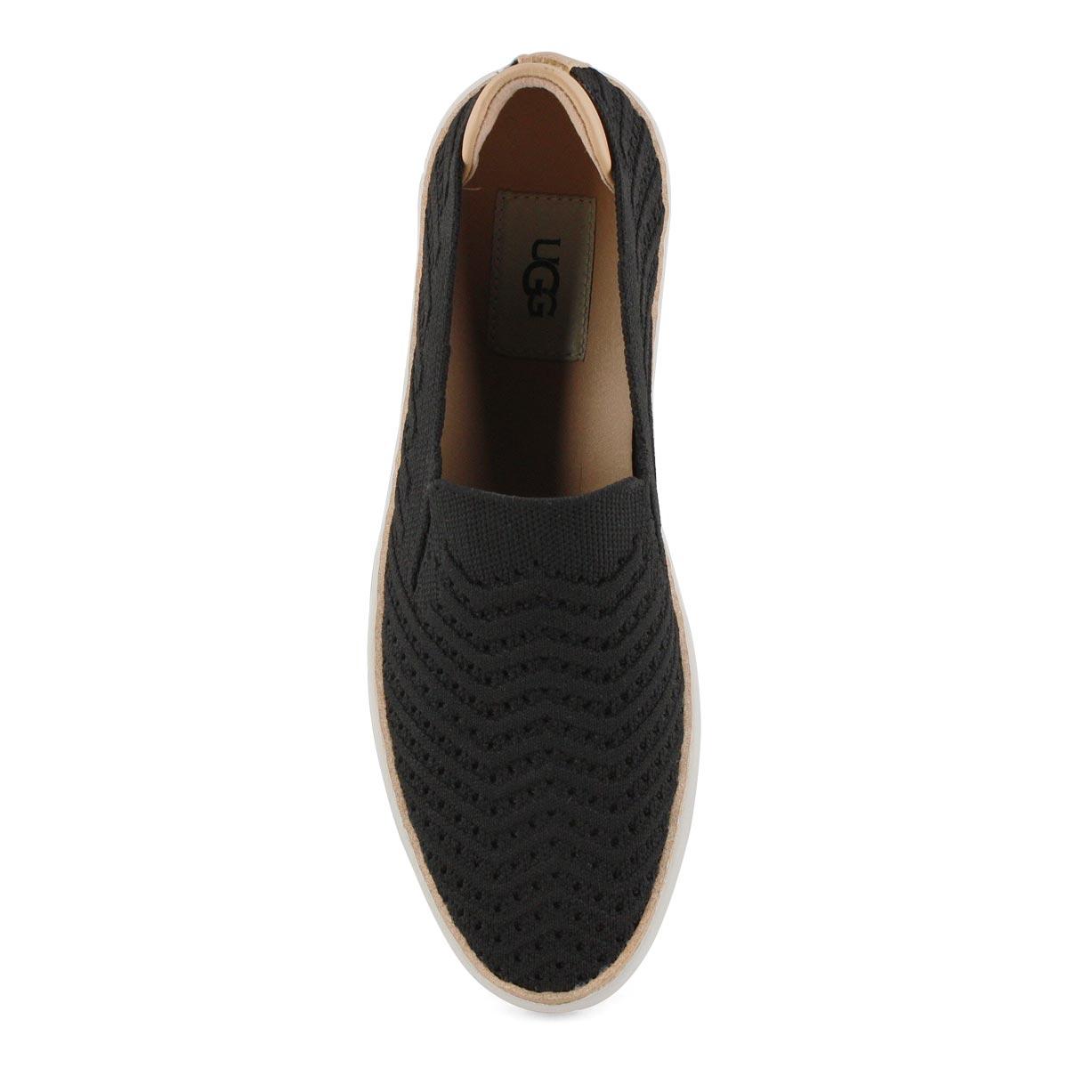 Women's Sammy Chevron Casual Slip On Shoe - Black