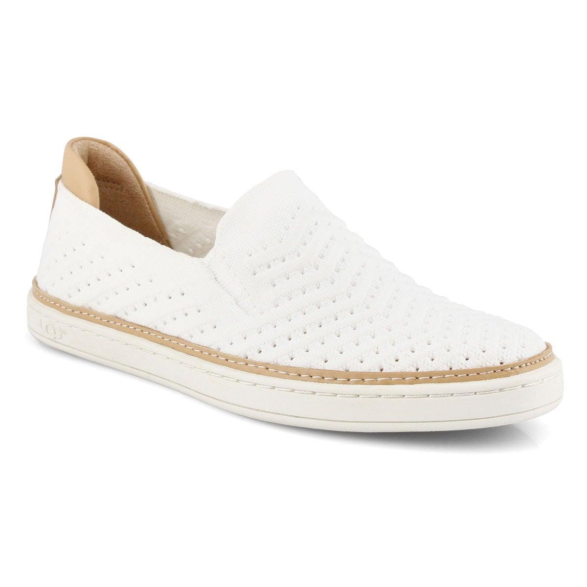 Women's Sammy Chevron Casual Slip On Shoe - White