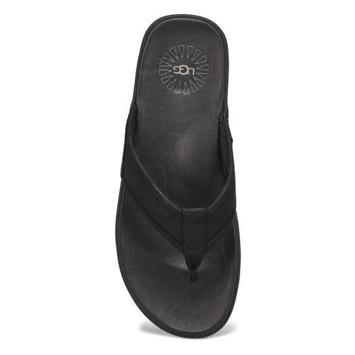 Tong Seaside Flip Leather,noir, hommes
