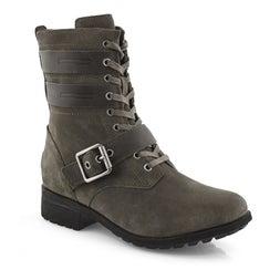 Lds Zia slate lace up wtpf boot