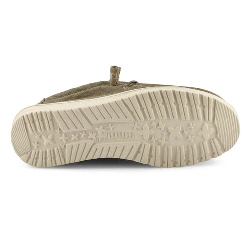Chaussure, Wally Stretch, brun, hommes