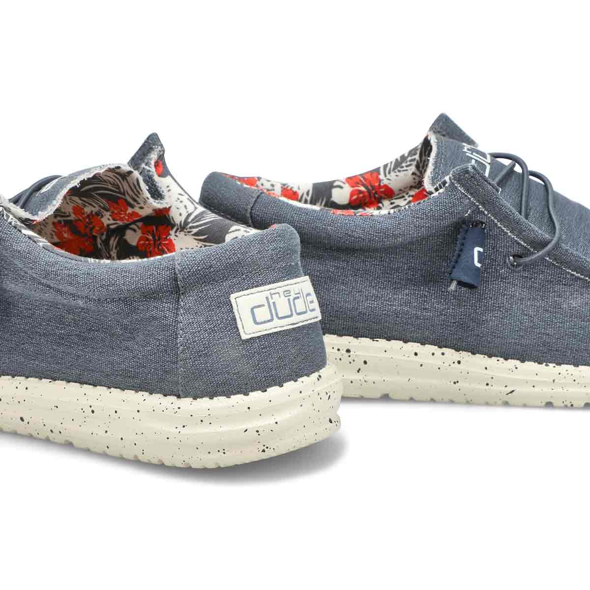 Men's Wally Stretch Casual Shoe - Blue