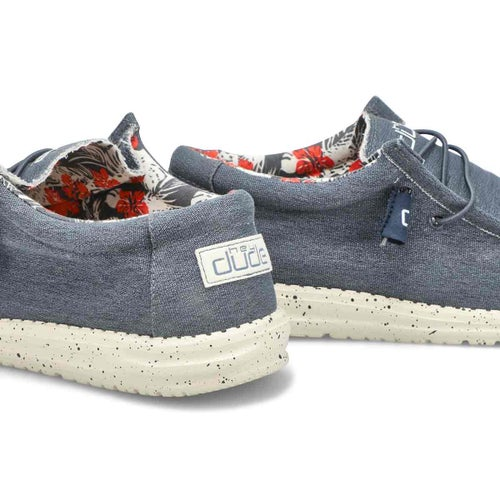 Mns Wally Stretch blue casual shoe