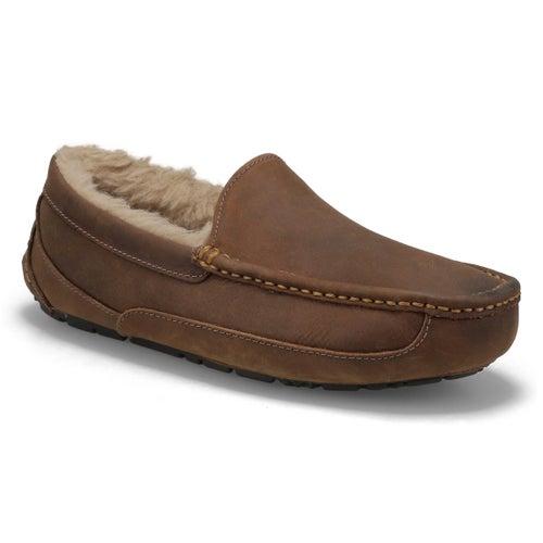 Mns Ascot tan sheepskin slipper