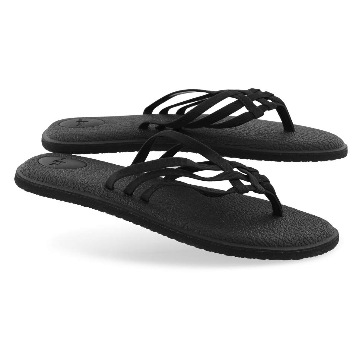 Sandale de plage YOGA SALTY, noire, femmes