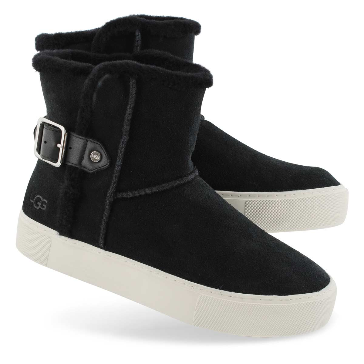 Women's AIKA BLACK slip on boot