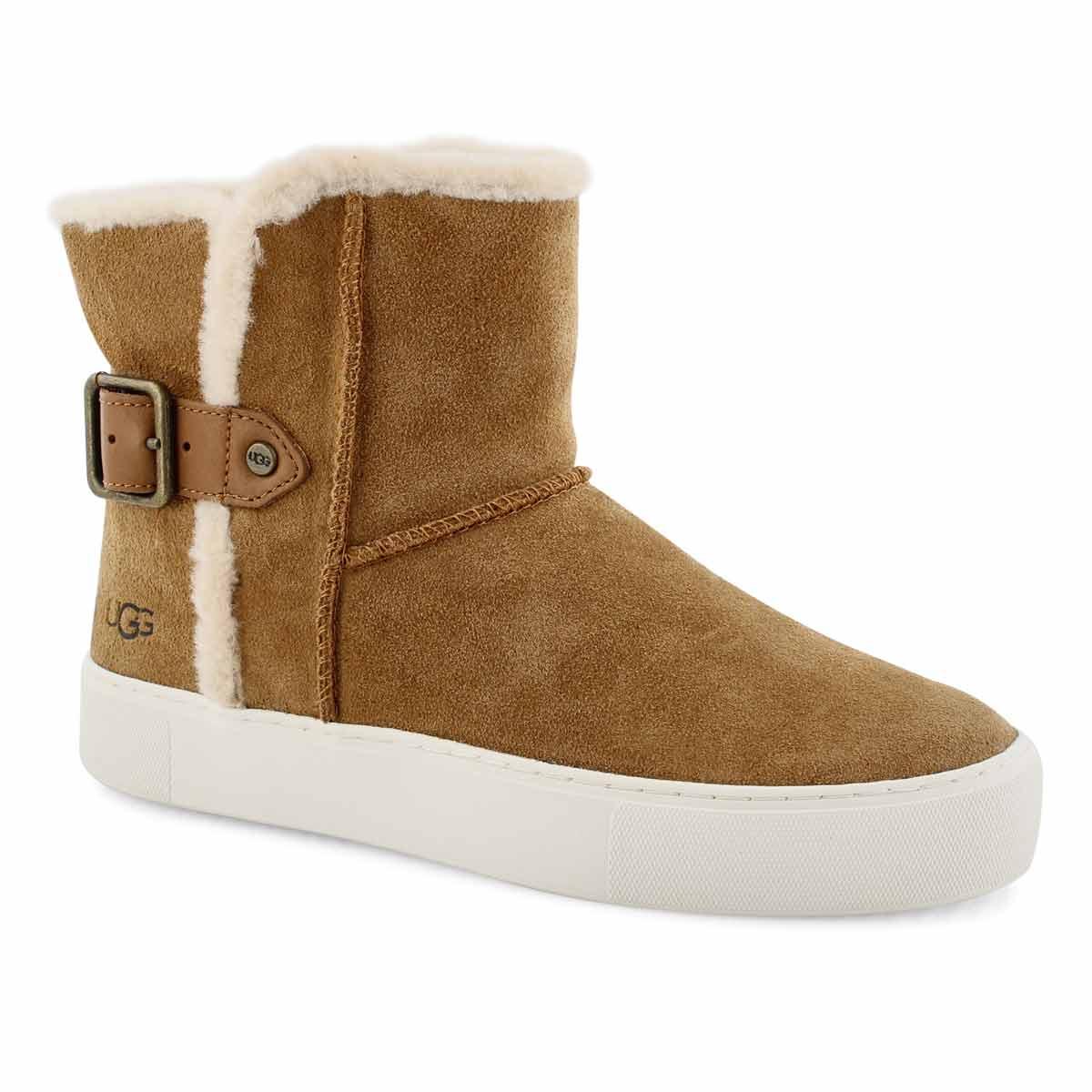 Women's AIKA  chestnut slip on boots