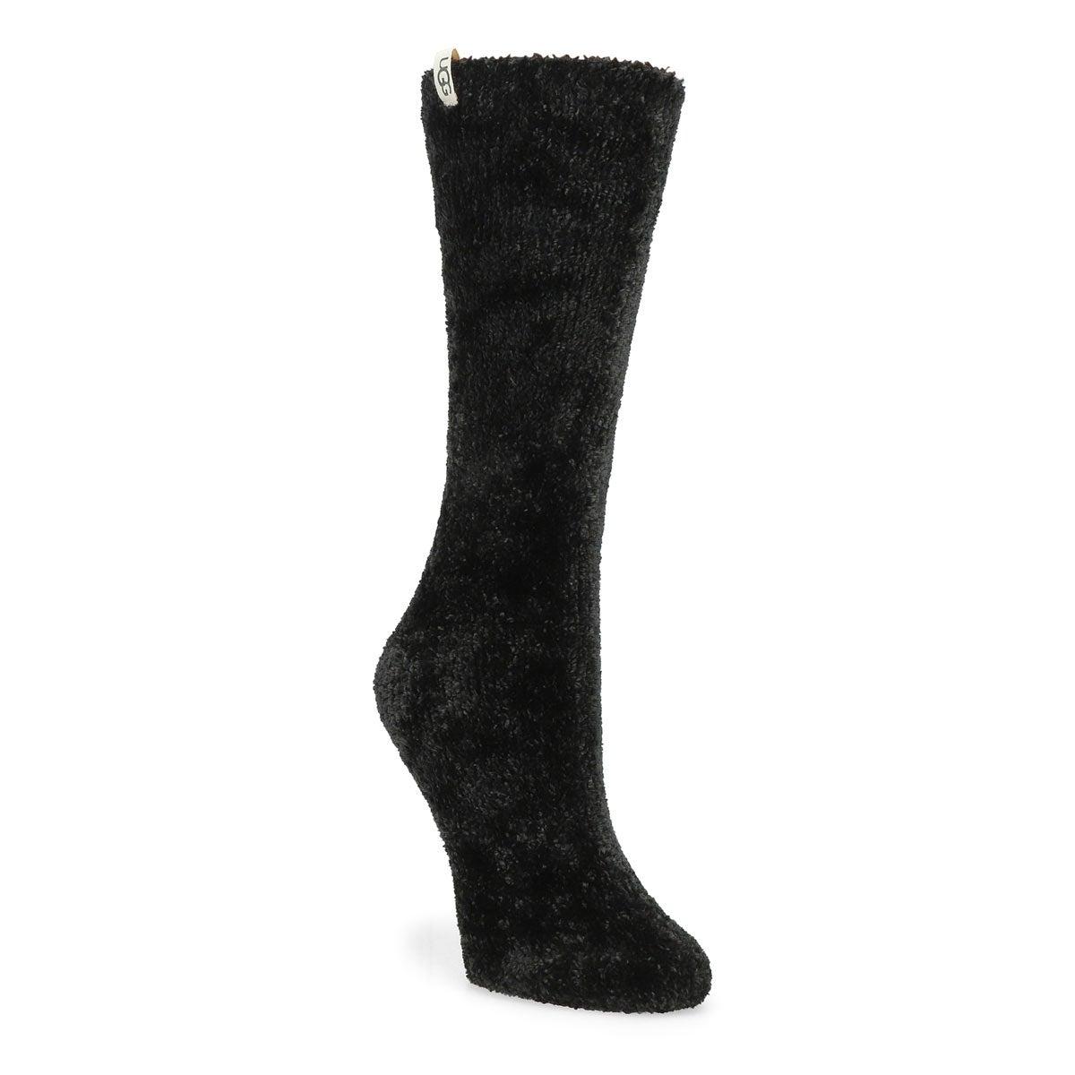 Chaussettes mi-mollet LEDA COZY, noir, femmes