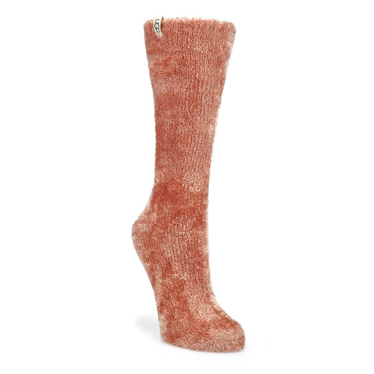 Women's Leda Cozy Crew Sock -  Desert Coral