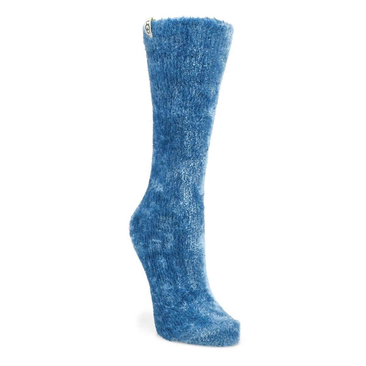Women's Leda Cozy Crew Sock - Med Blue
