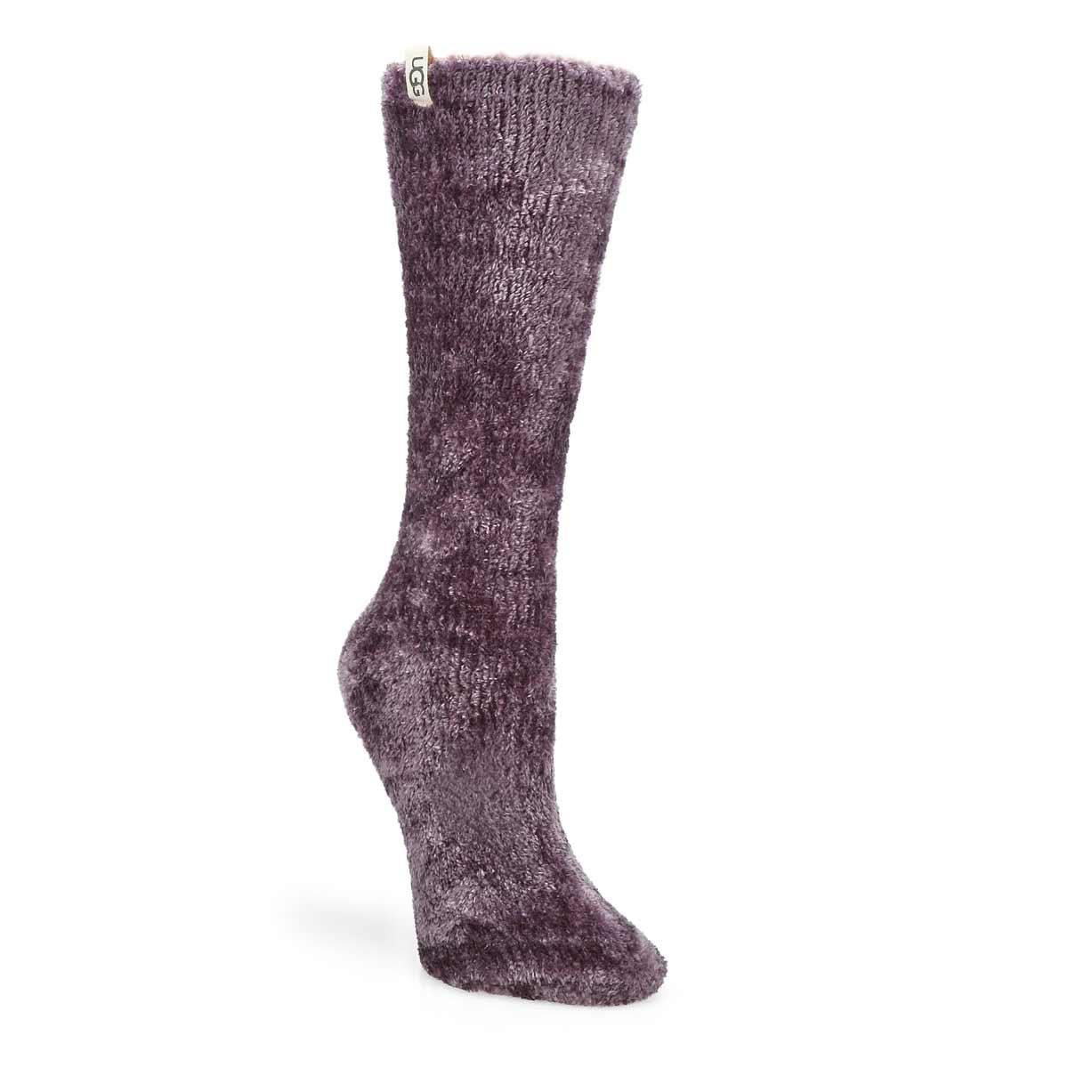 Women's Leda Cozy Crew Sock-Midnight Purple
