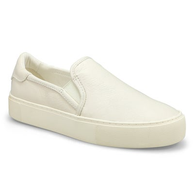Women's JASS white slip on shoes