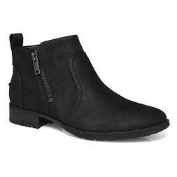 Lds Aureo II black side zip wtpf bootie