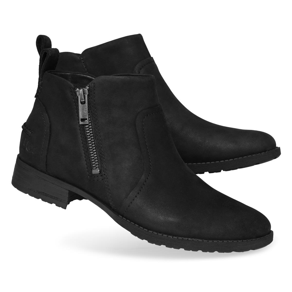 Women's AUREO II black side zip wtpf booties