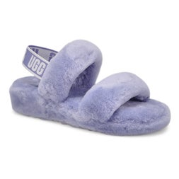 Lds Oh Yeah cornflower sheepskin slipper