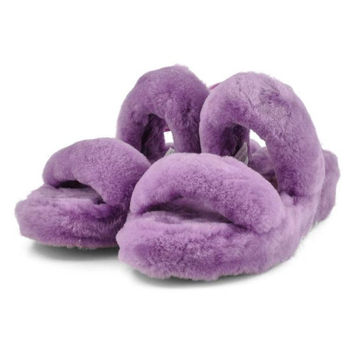 Lds Oh Yeah magnolia sheepskin slipper