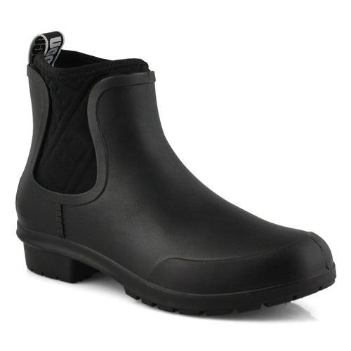 Lds Chevonne black chelsea rain boot