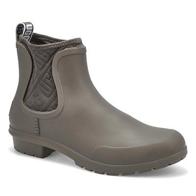 Lds Chevonne Chelsea Rain Boot-Charcoal