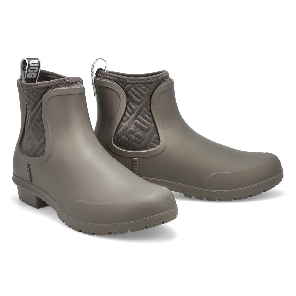 Women's Chevonne Chelsea Rain Boot - Charcoal