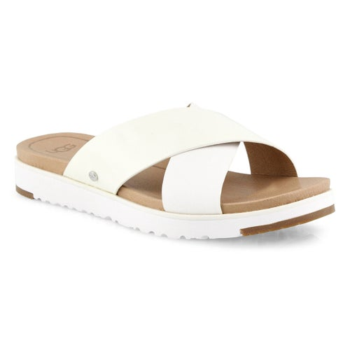 Lds Kari white casual slide sandal