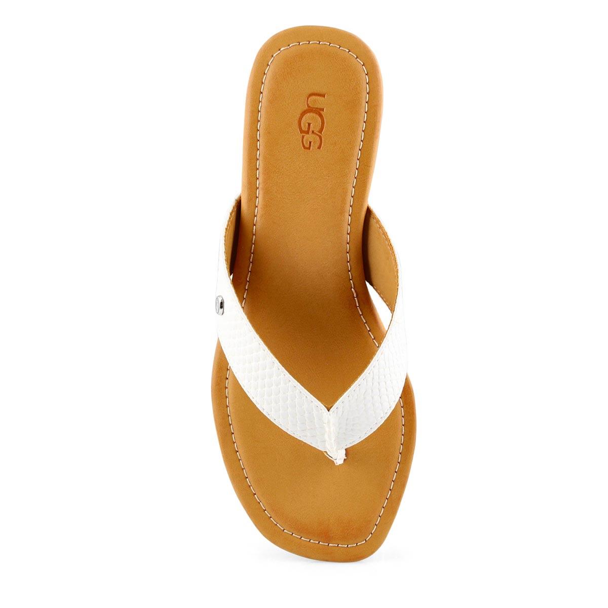 Women's TUOLUMNE white thong sandals