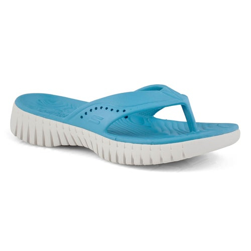 Lds Go Walk Smart blue thong sandal