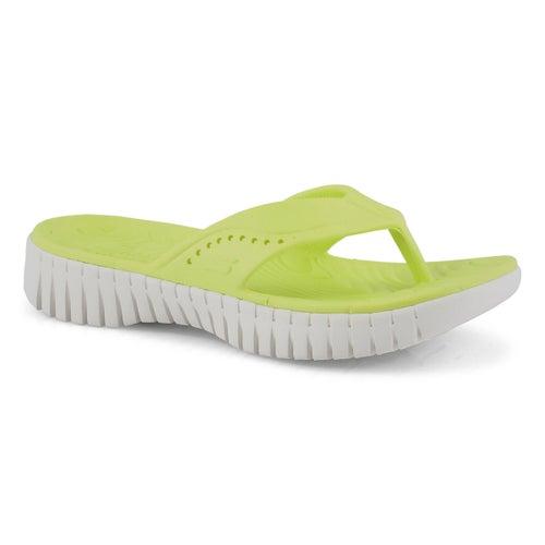 Lds Go Walk Smart lime thong sandal