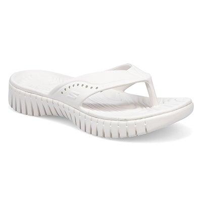 Lds Go Walk Smart white thong sandal