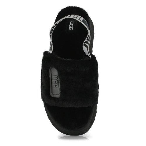 Lds Disco Slide black sheepskin slipper