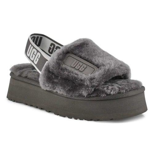 Lds Disco Slide grey sheepskin slipper