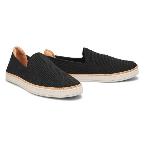 Lds Sammy black casual slip on shoe