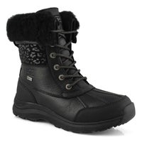 Women's Adirondack III Snow Leopard Boot - Black