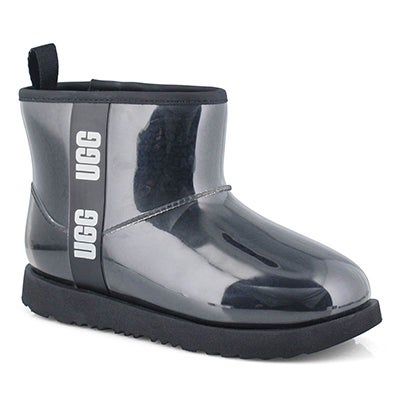 Grls Classic Clear Mini II blk wtpf boot
