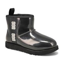 Grls Classic Clear Mini II blk wtpf boot