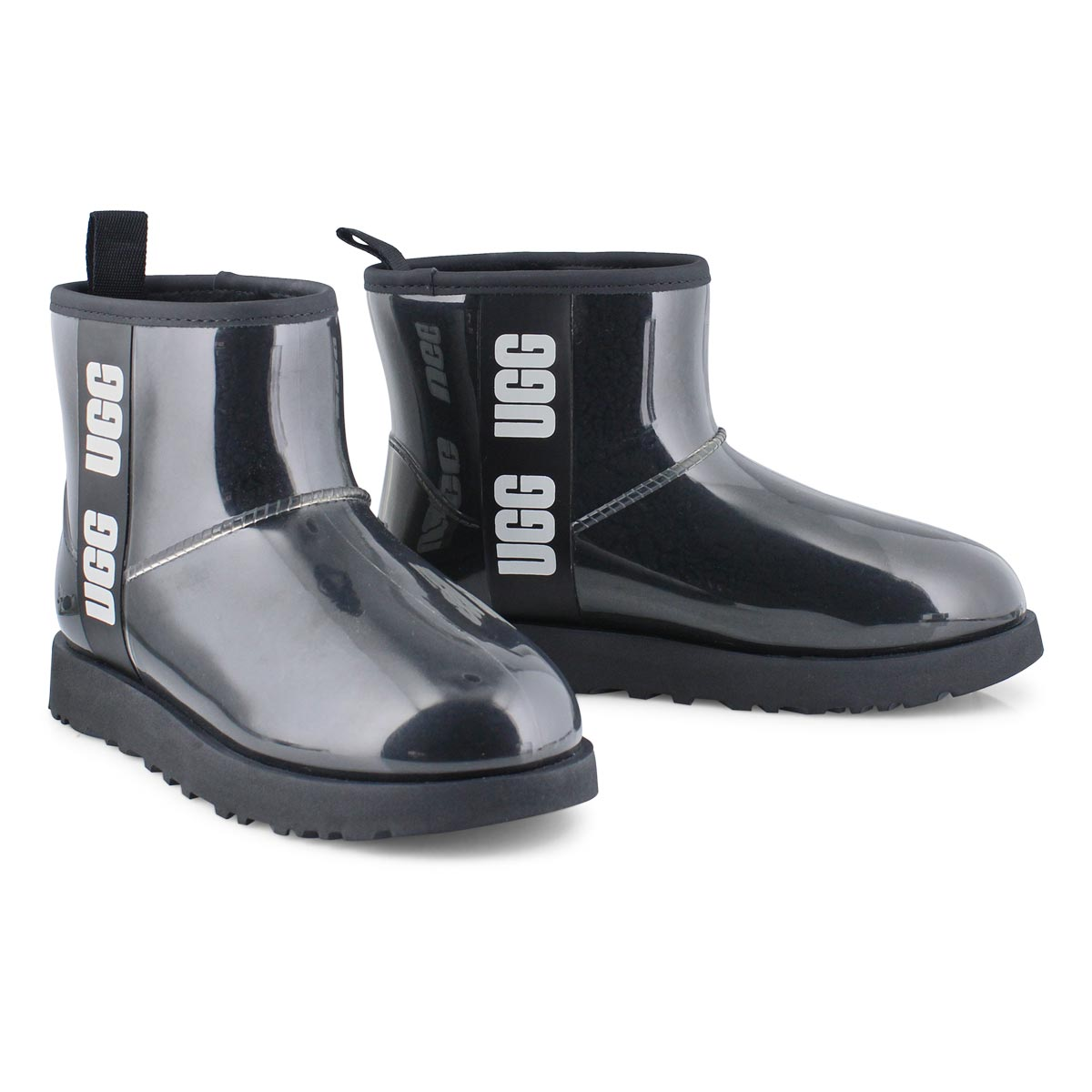 Lds Classic Clear Mini blk casual boot