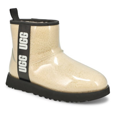 Women's CLASSIC CLEAR MINI natural/ black booties