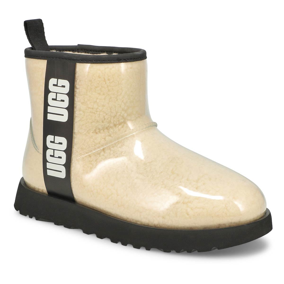 Women's Classic Clear Mini Boot - Natural/Black