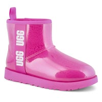 Women's Classic Clear Mini Boot - Rock Rose