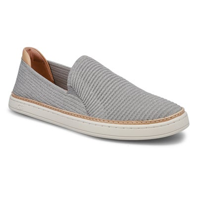 Lds Sammy Casual Slip On- Seal/Silver