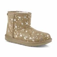 Girl's Classic Mini II Stars Boot - Chestnut