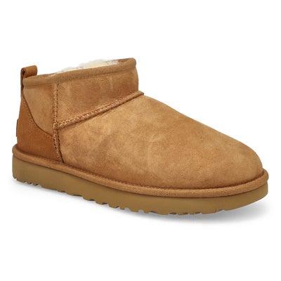 Women's CLASSIC ULTRA MINI chestnut boots