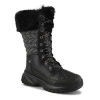 Women's Yose Tall Quilt Winter Boot - Black