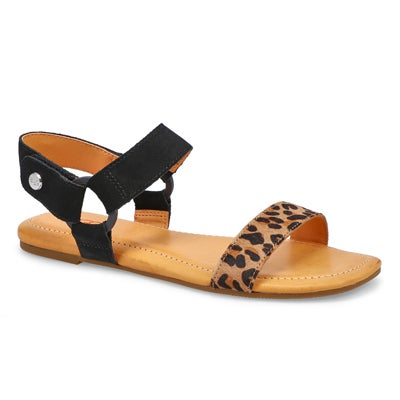 Lds Rynell Leopard blk/tancasual sandal
