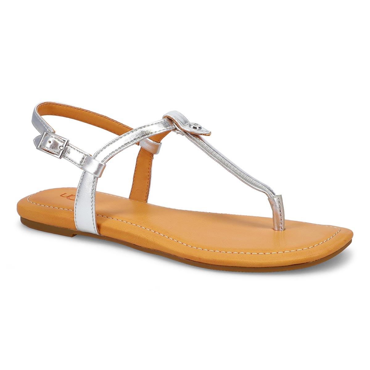 Women's Madeena Thong Sandal - Metallic Silver