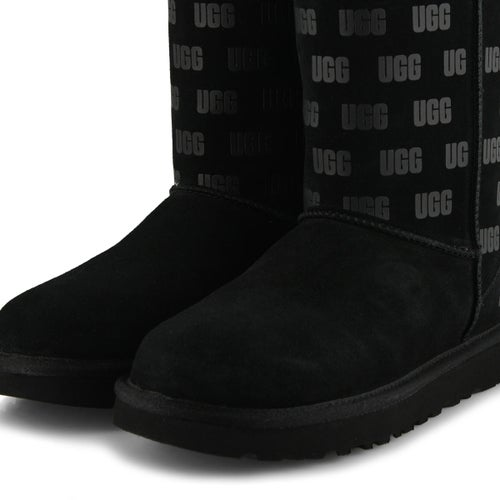 Lds Classic Short II UGG Print blk boot