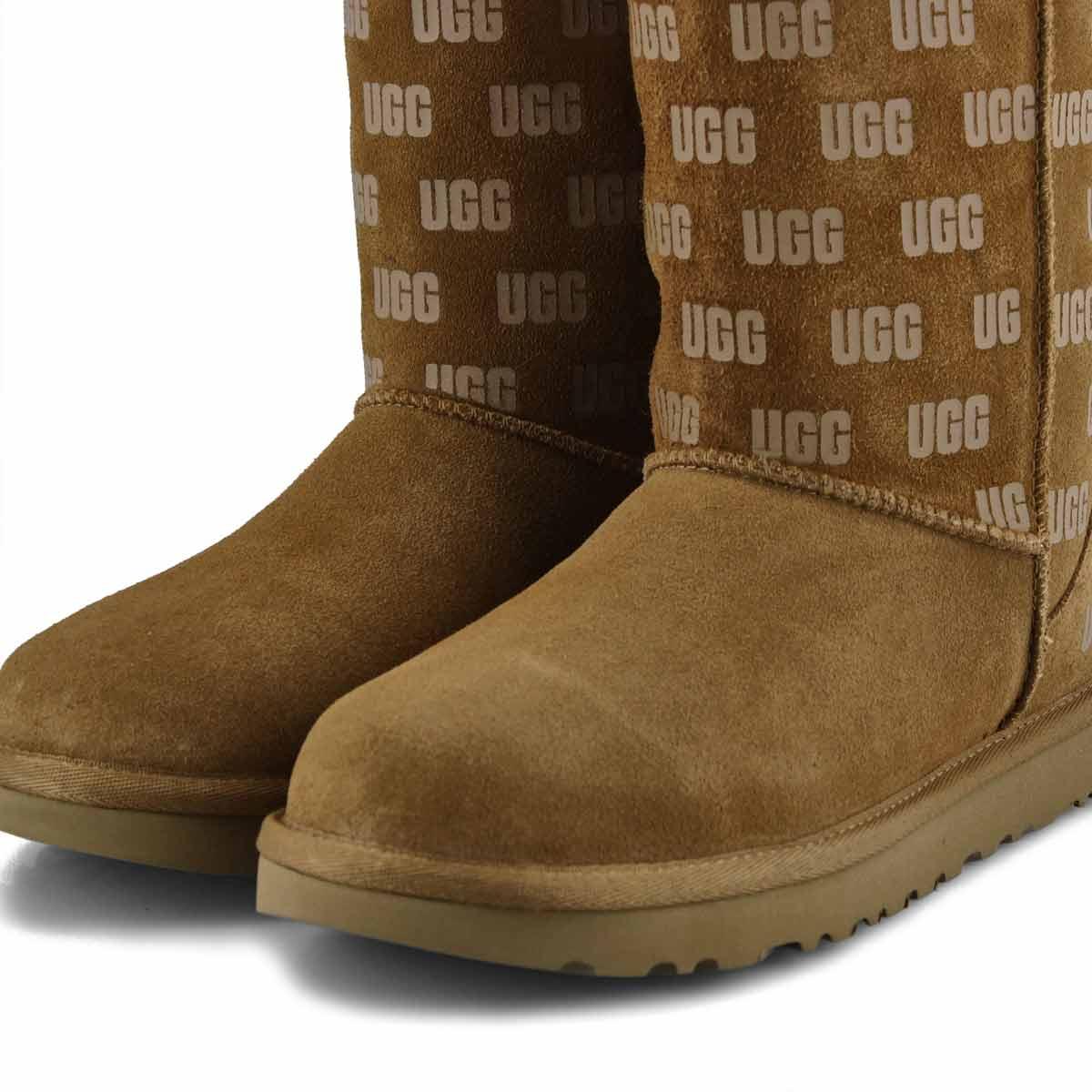 Women's Classic Short II UGG Print Boot - Chestnut