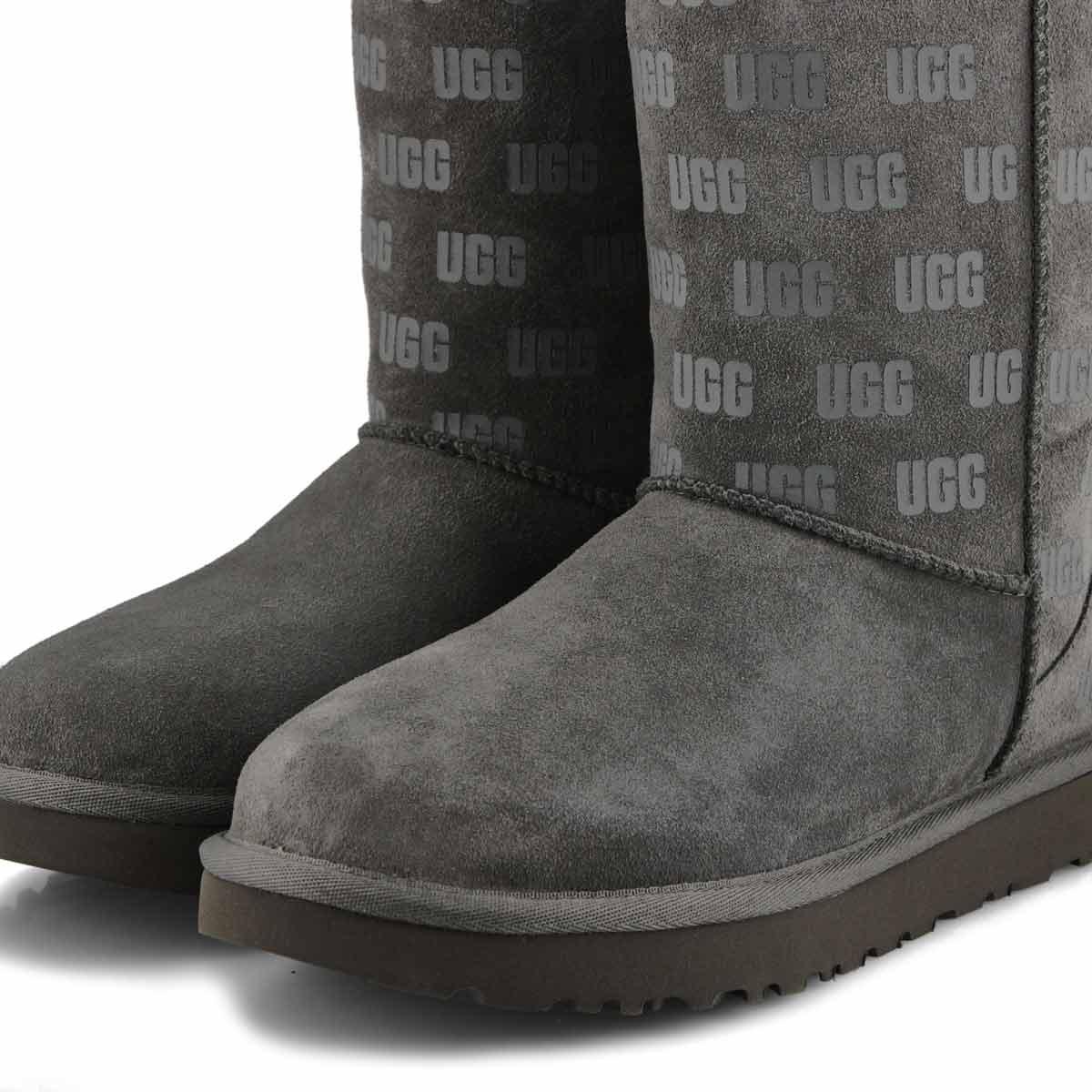 Women's Classic Short II UGG Print Boot - Charcoal