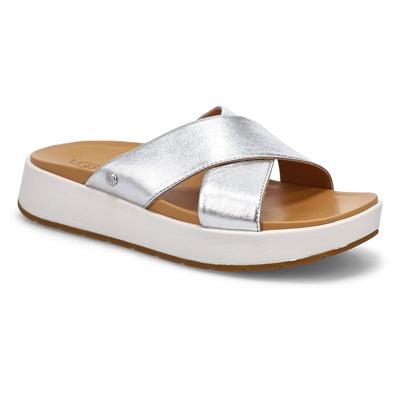 Lds Emily silver metallic slide sandal