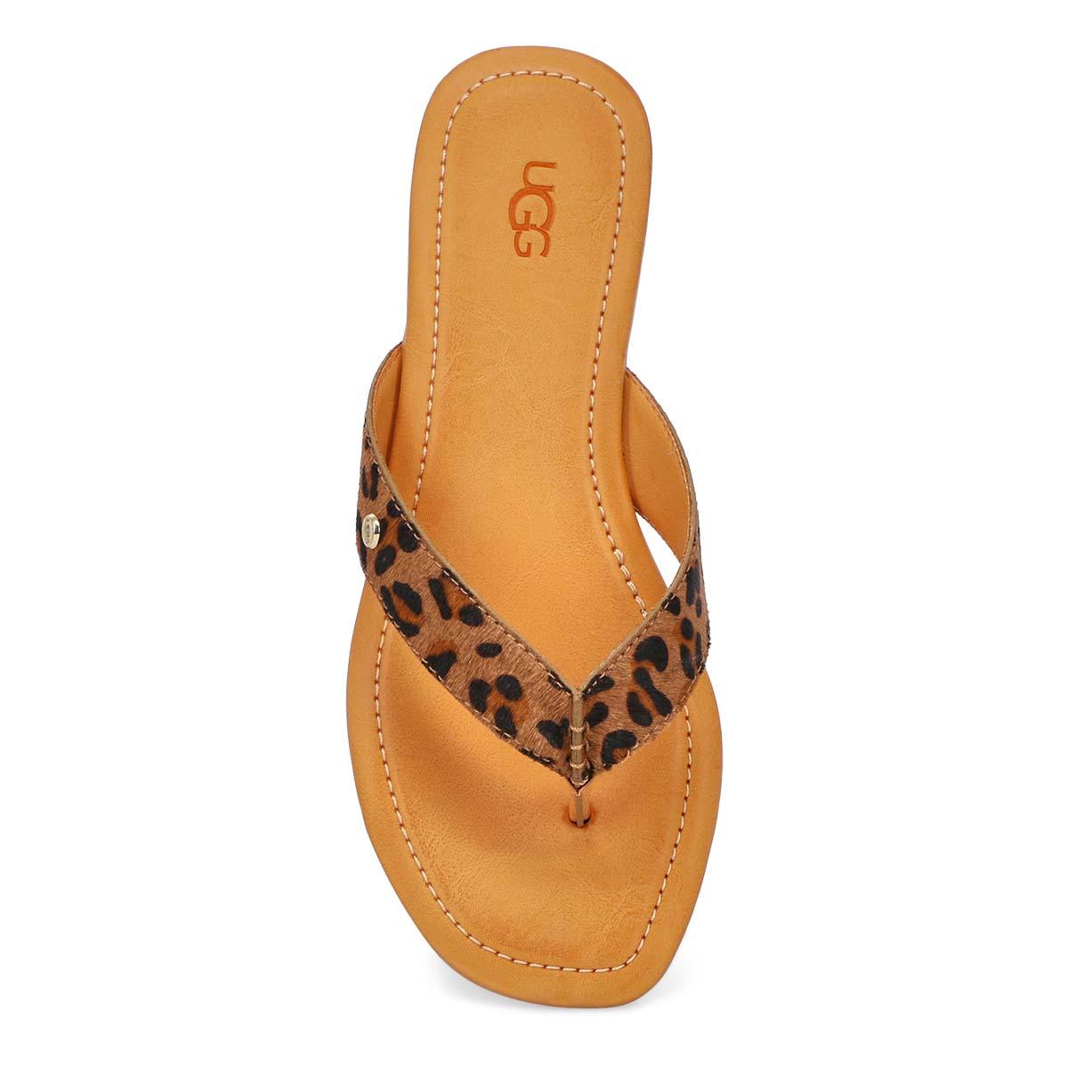 Women's Tuolumne Thong Sandal - Leopard Tan