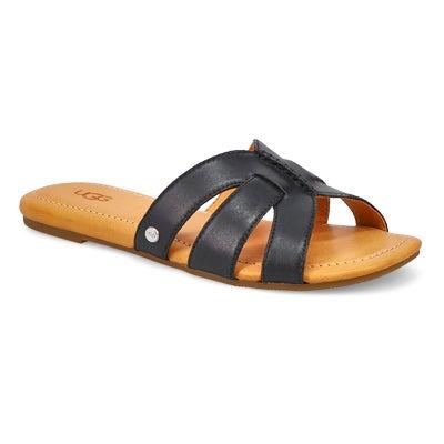 Lds Teague black slide sandal